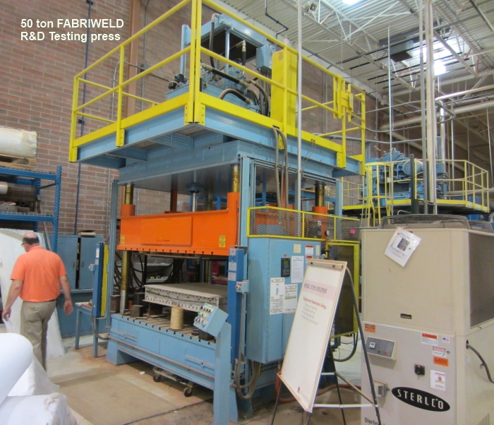 Fabriweld 50 ton testing hydraulic press for sale with panelview 300 controller and light curtains