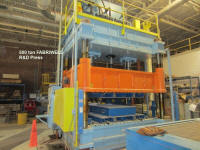 used 500 ton Fabriweld hydraulic testing press installed new in 2004 for sale.