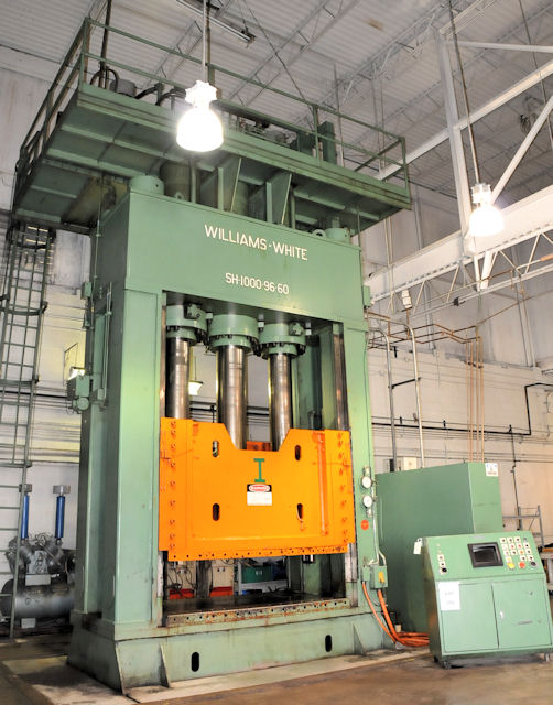 1000 ton used House type Williams and White hydraulic press