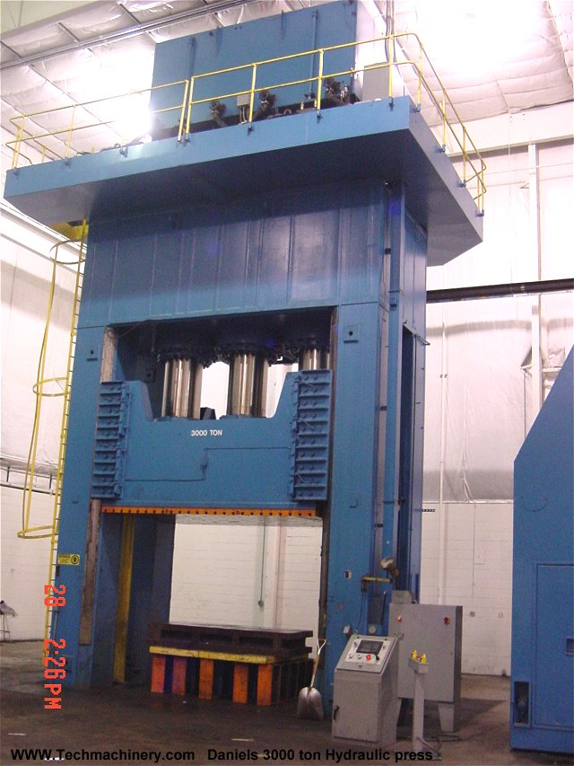 Used Newman Amp Whitney 4 Post Hydraulic 345 Ton Spotting