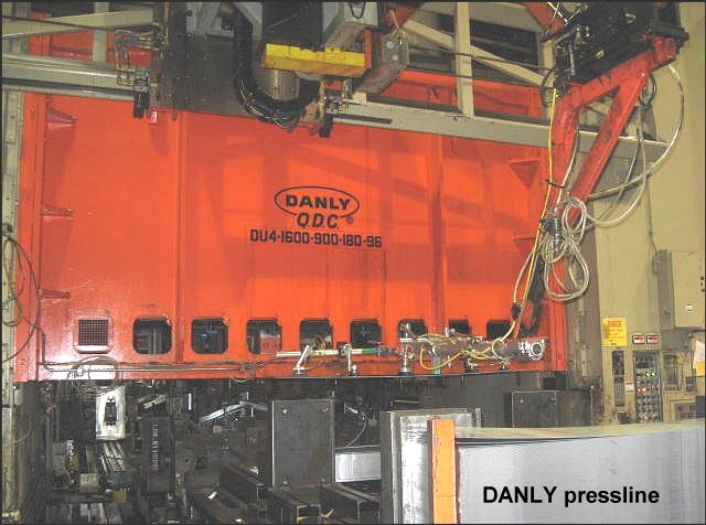 2500 Ton Used Danly And 3 1000 Ton Presses In Complete
