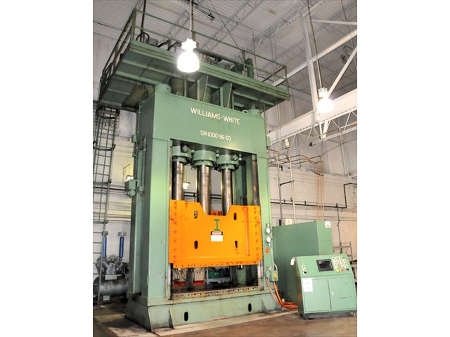 1000 Ton Williams & White Down Acting Hydraulic Press Model #SH-1000-96-60