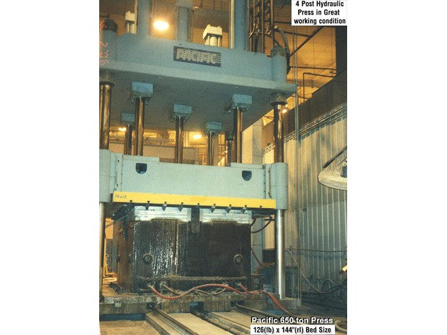 Pacific 650 ton hydraulic press for sale by TechMachinery.com