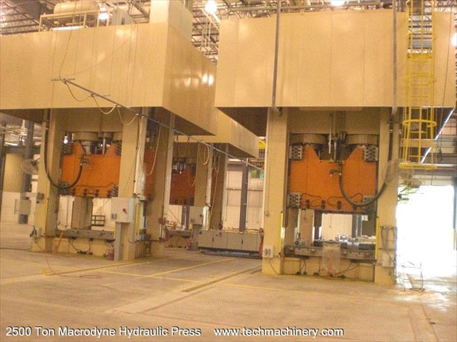 2500 Ton Macrodyne Hydraulic Press for immediate sale