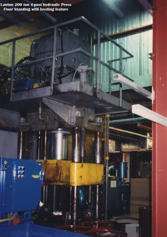 Used LAWTON 200 ton 4 POST HYDRAULIC PRESS for sale