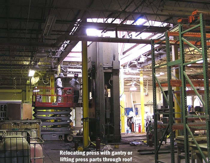Mechanical and Hydraulic Press Rebuilding and Relocating Services offered by
